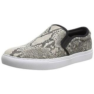 Steve Madden Mens Centrik Snake Print Slip On Fashion Sneakers