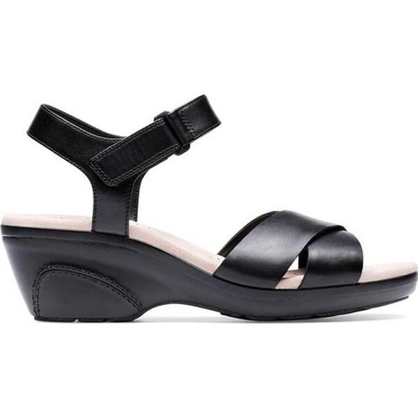 Shop Clarks Women's Lynette Deb Ankle Strap Sandal Black