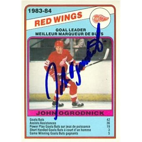 02ebbfc29b9 Shop John Ogrodnick Autographed Hockey Card Detroit Red Wings 1984 - Free  Shipping On Orders Over  45 - Overstock.com - 23747933