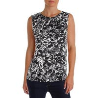 Nine West Womens Blouse Printed Embellished