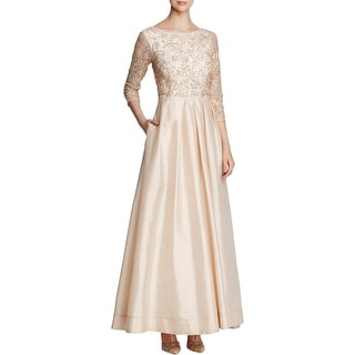 Aidan Mattox Womens Evening Dress Beaded Full-Length
