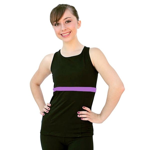 ChloeNoel Purple Racer Back Fitted Skating Top Girls S-L Adult XS-L