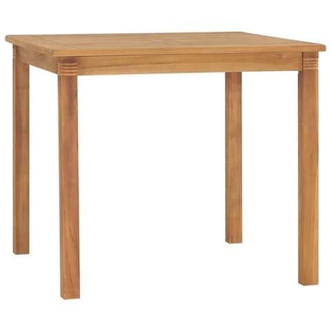 "vidaXL Garden Dining Table 33.5""x33.5""x29.5"" Solid Teak Wood"