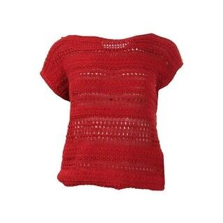 Lauren Ralph Lauren Womens Open Stitch Sleeveless Pullover Sweater - M