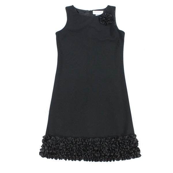 Shop Sweet Heart Rose NEW Black Girls Size 16 Floral-Applique Ruffle Dress  - Free Shipping On Orders Over  45 - Overstock.com - 20298104 00bf796a225f