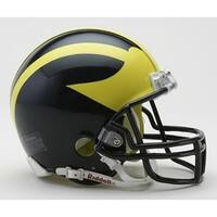 Michigan Riddell Mini Football Helmet