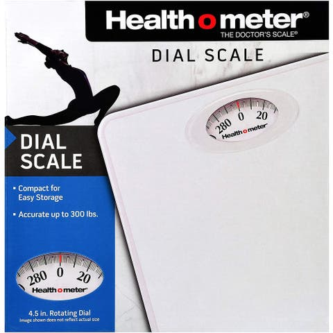 Health O Meter HAB700DQ201 Dial Personal Weight Scale, White