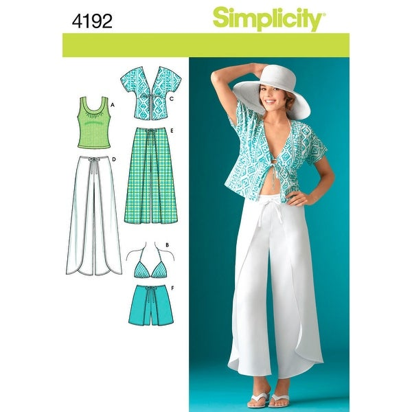 Simplicity Misses Wrap Pants Or Shorts,-14,16,18,20,22