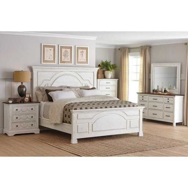 Danica Vintage White 6-piece Bedroom Set with Two Nightstands. Opens flyout.