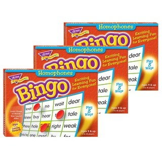 (3 Ea) Bingo Homonyms Ages 9 & Up