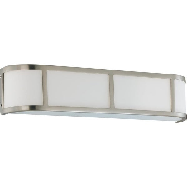 "Nuvo Lighting 60/3803 Odeon 3-Light 5"" Tall Wall Sconce with Frosted Glass Shade - Brushed nickel - n/a"