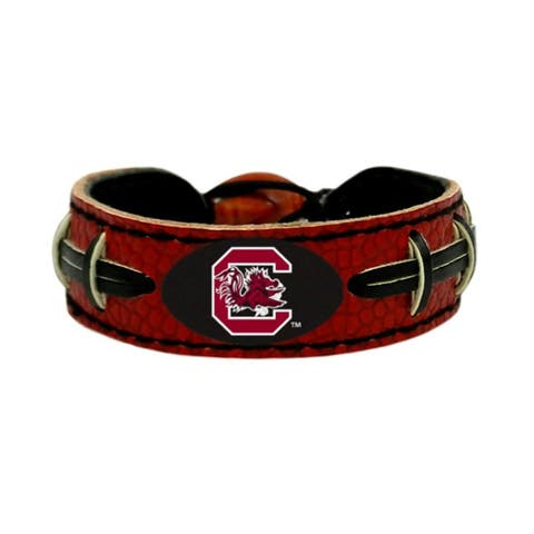 South Carolina Gamecocks Team Color NCAA Gamewear Leather Football Bracelet