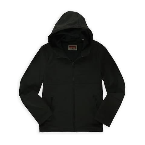 Levi's Mens Soft Shell Hooded Bomber Jacket