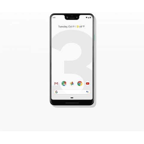 "Google Pixel 3 XL 64GB 6.3"" 4G LTE FullyUnlocked,Clearly White - Clearly White"