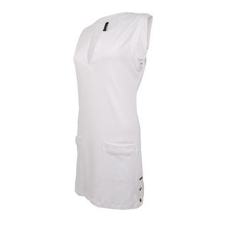 Lauren Ralph Lauren Women's Pocket Knit Tunic Swim Cover (L, White) - L
