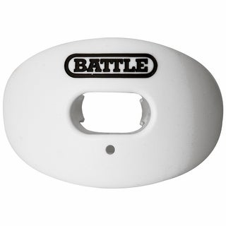 Battle Sports Science Oxygen Lip Protector Mouthguard - White