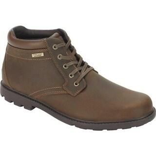 Rockport Men's Storm Surge Plain Toe Boot Tan Leather