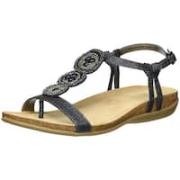 Bandolino Womens Hamper Open Toe Casual T-Strap Sandals
