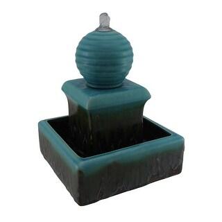 3 Tier Orb Top Square Ceramic Water Fountain