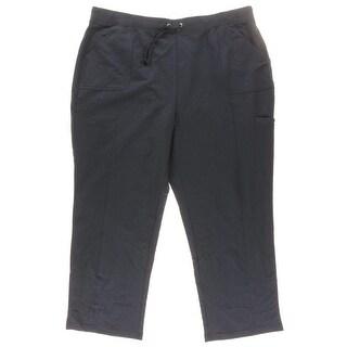 Karen Scott Womens Plus Cotton Athletic Cargo Pants - 3X