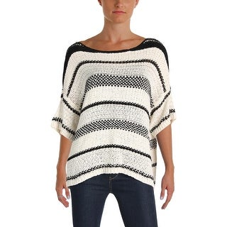 Polo Ralph Lauren Womens Sweater Striped Short Sleeves