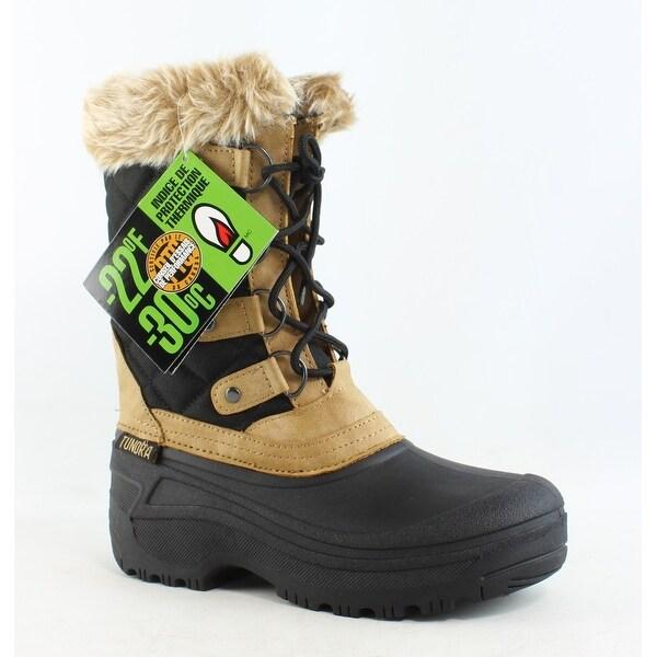 Tundra Womens Augusta-W Black/Tan Snow Boots Size 6