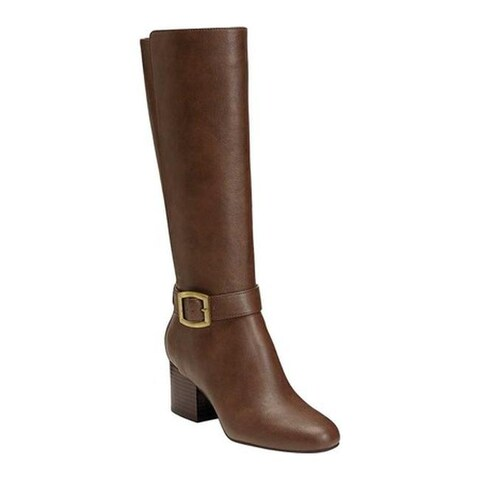 Aerosoles Women's Patience Knee High Boots Dark Brown Combo/Faux Leather