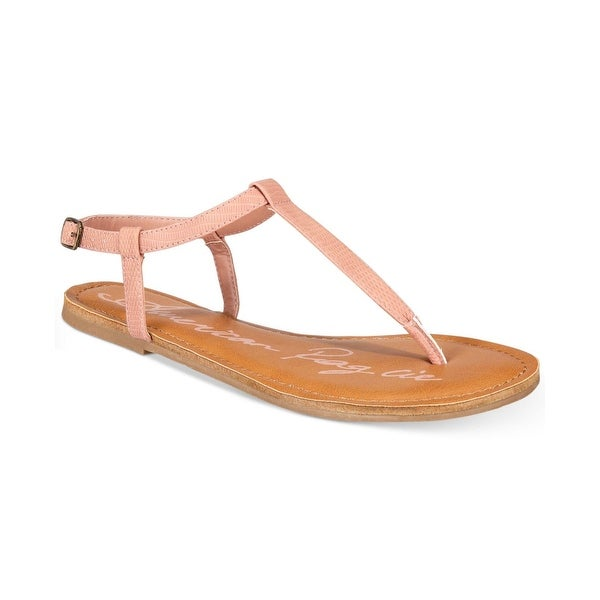 American Rag Womens KRISTA Split Toe Casual T-Strap Sandals