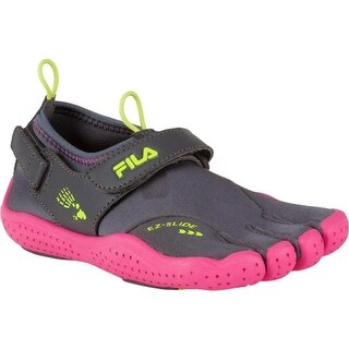 Fila Children's Skele-Toes EZ Slide Drainage Castlerock/Hot Pink/Lime Punch