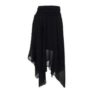 BCX Juniors' Chiffon Handkerchief Hem Skirt - S