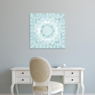 Easy Art Prints Chariklia Zarris's 'Spa Batik Rosette I' Premium Canvas Art