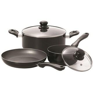 Starfrit 033059-002 Simplicity 5-Piece Cookware Set, Black, Aluminum