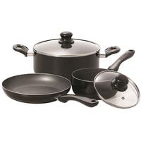 Starfrit 033059-002 Simplicity 5-Piece Cookware Set, Black, Aluminum