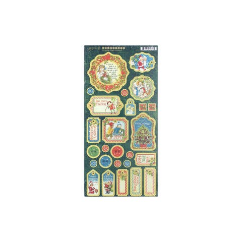 4501737 graphic 45 christmas magic chipboard