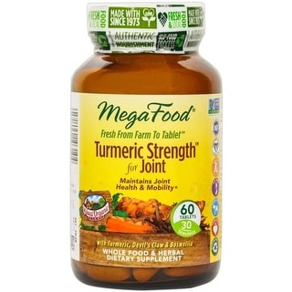 MegaFood - Turmeric Strength for Joint, Supports Joint Health & Mobility, 60 Tablets