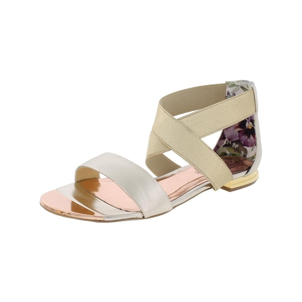 Ted Baker Womens Laana Flat Sandals Metallic Strappy