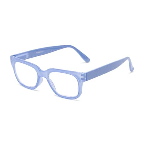 Readers.com The Wave Blue Light Reader Retro Square Reading Glasses