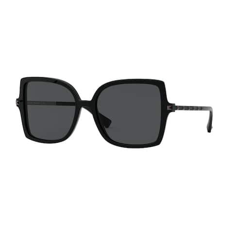Valentino VA4072 500187 56 Black Woman Square Sunglasses