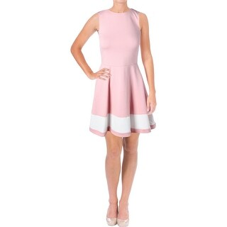Aqua Womens Wear to Work Dress Colorblock A-Line (2 options available)