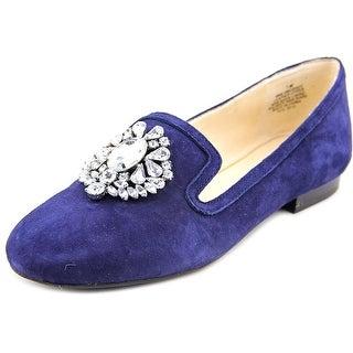 Nine West Longshot Women Round Toe Suede Blue Loafer