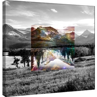 "PTM Images 9-100533  PTM Canvas Collection 12"" x 12"" - ""Celestial Landscape 3"" Giclee Forests and Mountains Art Print on Canvas"