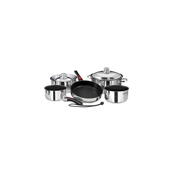 Magma Nesting 10-Piece Cookware - Slate Black Ceramica Non-Stick Interior Nesting 10-Piece Cookware