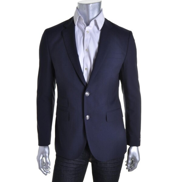 e712a8062 Shop BOSS Hugo Boss Mens Dieselstrasse12 Two-Button Blazer Wool Textured -  40s - Free Shipping Today - Overstock - 17284724