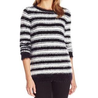 Calvin Klein NEW Black Women Size Medium M Eyelash Knit Pullover Sweater