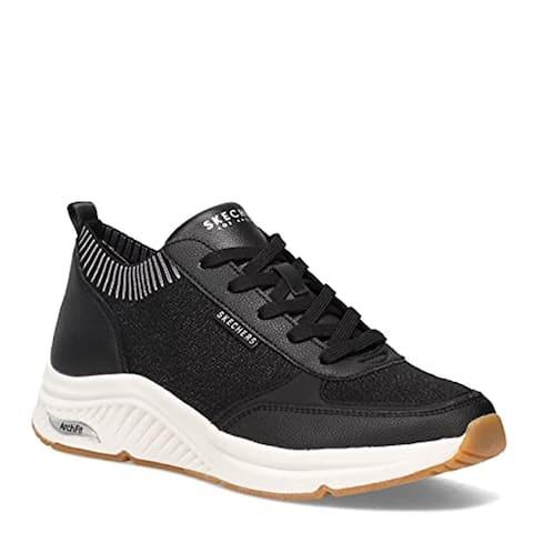 Skechers Women's Street, Arch Fit: S-Miles - Walk On Sneaker Black