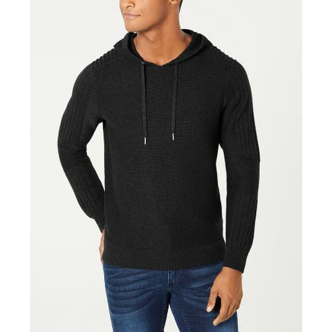 INC International Concepts Men's Hooded Sweater Black Size 2 ExtraLarge