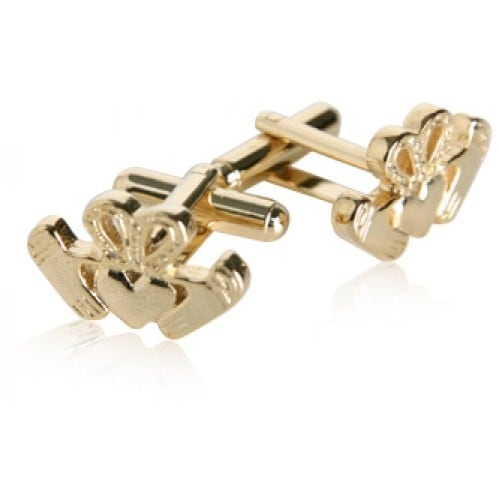 Gold Claddagh Ireland Irish Love Friendship Loyalty Cufflinks