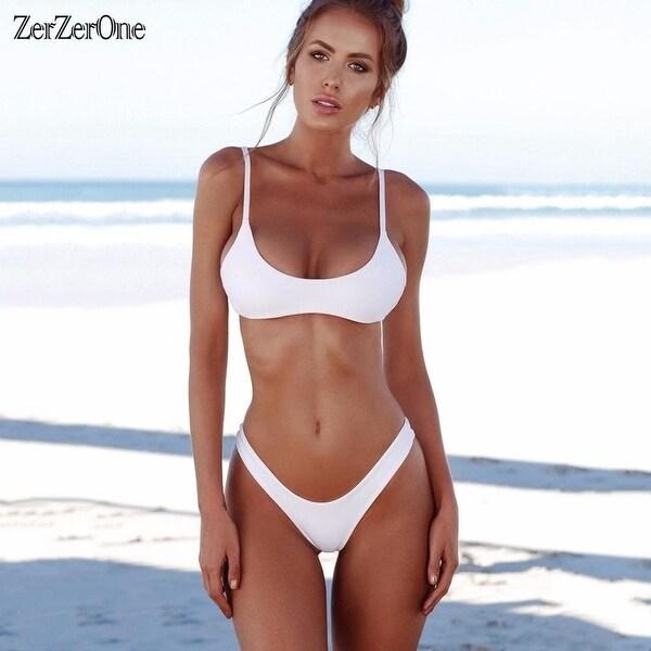 36d07ab90d 2018 Sexy Micro Bikini Plus Size Swimwear Women Swimsuit Female Beach Wear  Push up Thong Brazilian