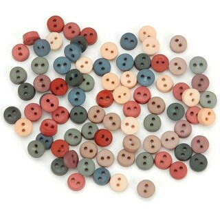 Tiny Round Buttons - Country - Dress It Up Embellishments
