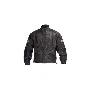 Motorcycle Biker Road Rain Jacket Black RJ1